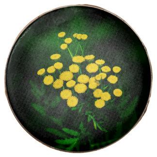 Chaqueta verde con los botones de oro