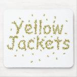 Chaquetas amarillas tapetes de ratón