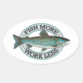 Char Fishing Oval Sticker