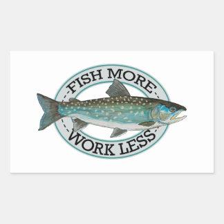 Char Fishing Rectangular Sticker