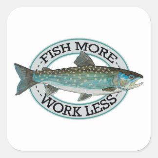 Char Fishing Square Sticker