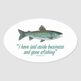 Char Fly Fishing Oval Sticker