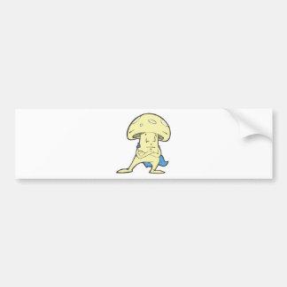 charac tonto del dibujo animado de la seta de los  pegatina de parachoque