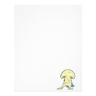 charac tonto del dibujo animado de la seta de los  plantillas de membrete