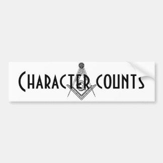 Character counts bumper sticker