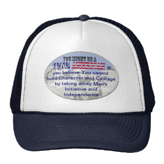 character courage independence mesh hats