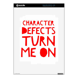 Character Defects Recovery Sober Drunk iPad 2 Decal