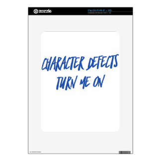 Character Defects Recovery Sober Drunk iPad Skin