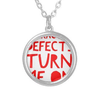Character Defects Recovery Sober Drunk Silver Plated Necklace