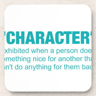 character -doing something nice for someone that.. beverage coaster