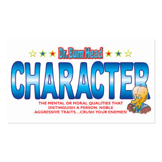 Character Dr Bum Head Pack Of Standard Business Cards