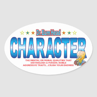 Character Dr Bum Head Oval Sticker