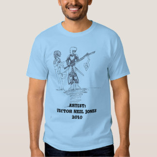 character drawing by Victor Neil Jones T Shirt
