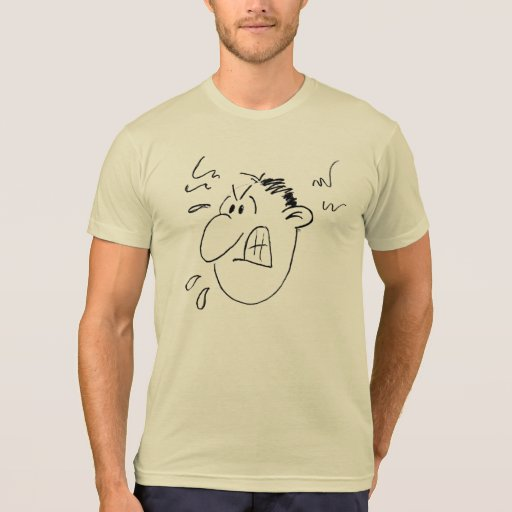 Character Face (angry) T-shirts