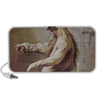 Character from the Commedia dell'Arte iPhone Speaker