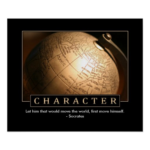 Character Inspirational Poster