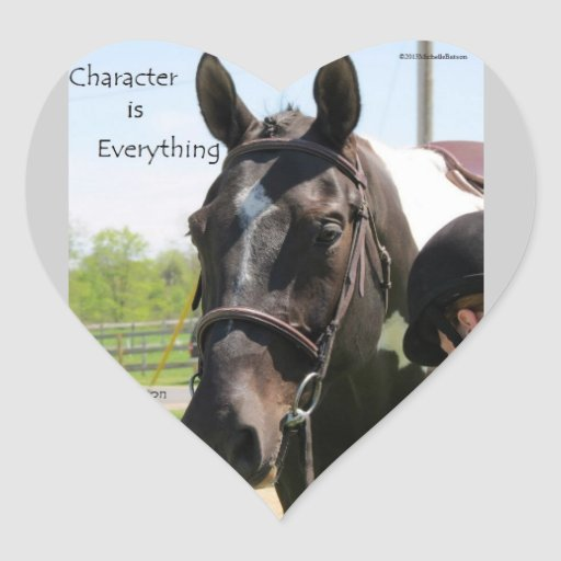 Character Is everything Stickers