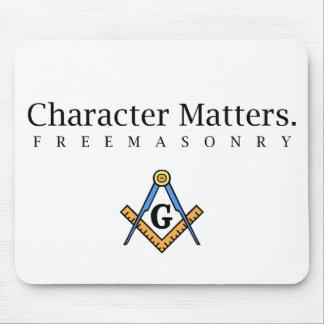 Character Matters.  Freemasonry Mouse Mats