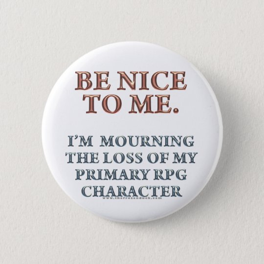 Character Mourning Pinback Button
