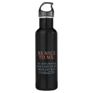 Character Mourning Water Bottle