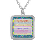 Character of a person ... custom necklace