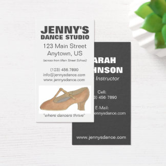 Character Shoe Dance Teacher Business Cards