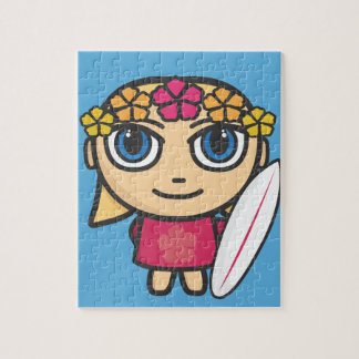 Character Surfer Puzzle/Jigsaw with Tin