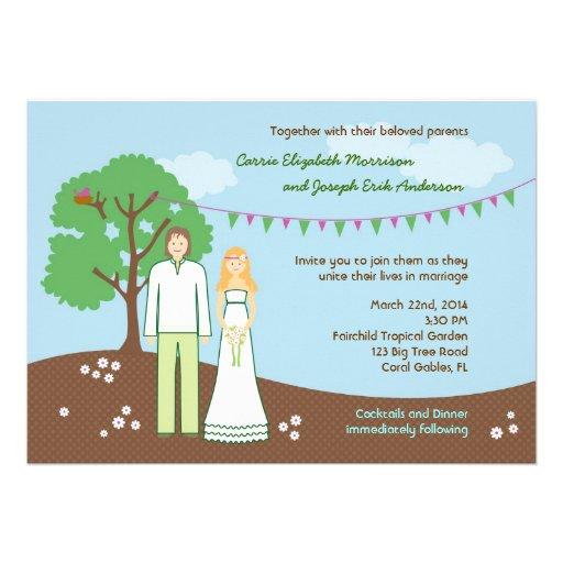 Character Whimsical Wedding Invitation