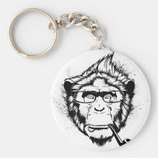 Characteristic Chimp Basic Round Button Keychain