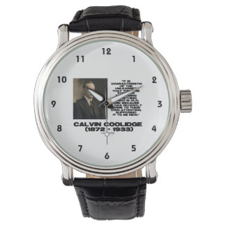 Characteristic Of The Unlearned Old New Coolidge Wristwatch