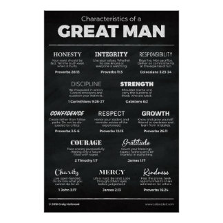 Characteristics of a Great Man Poster