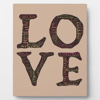 CHARACTERISTICS OF TRUE LOVE TYPOGRAPHY PHOTO PLAQUES