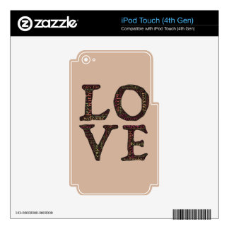 CHARACTERISTICS OF TRUE LOVE TYPOGRAPHY SKIN FOR iPod TOUCH 4G
