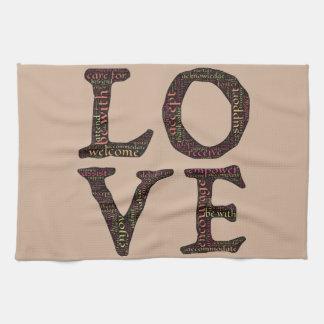 CHARACTERISTICS OF TRUE LOVE TYPOGRAPHY TOWEL