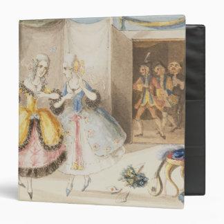 Characters from Cosi fan tutte by Mozart 1840 Vinyl Binder