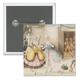 Characters from Cosi fan tutte by Mozart 1840 Pinback Buttons