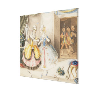 Characters from 'Cosi fan tutte' by Mozart, 1840 Stretched Canvas Prints