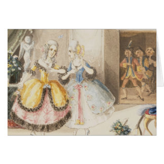 Characters from 'Cosi fan tutte' by Mozart, 1840 Card