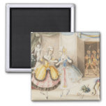 Characters from 'Cosi fan tutte' by Mozart, 1840 Refrigerator Magnets