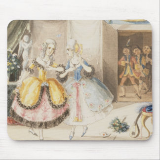 Characters from 'Cosi fan tutte' by Mozart, 1840 Mousepads