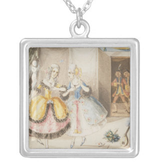 Characters from 'Cosi fan tutte' by Mozart, 1840 Pendant