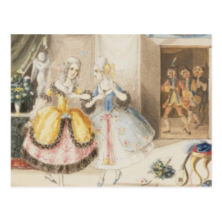 Characters from 'Cosi fan tutte' by Mozart, 1840 Postcards