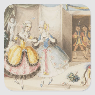Characters from 'Cosi fan tutte' by Mozart, 1840 Stickers