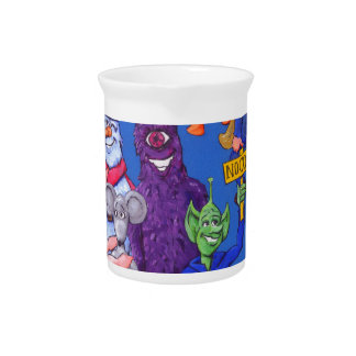 Characters from Space Cows Drink Pitcher