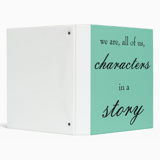 Characters in a Story binder