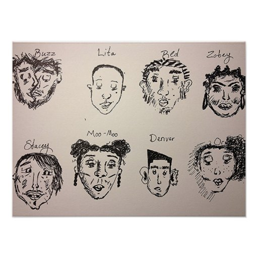 characters in My Head Poster