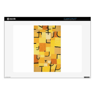 Characters in yellow by Paul Klee Skin For Laptop