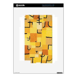 Characters in yellow by Paul Klee Skin For The iPad 2
