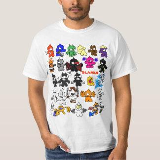 charater list tee shirt