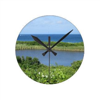 Charca 1 del Block Island Relojes De Pared